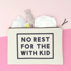 No Rest For The With Kid XL Canvas Pouch