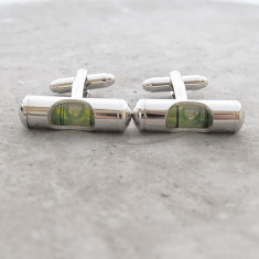 Level stainless steel cufflinks