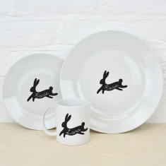 Bunny Rabbit Personalised Dining Set