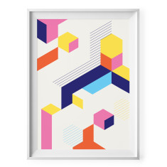 Bright geometric shapes (abstract print)