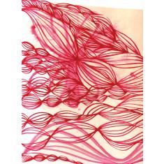 Pink ink swirl print