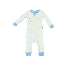 Sweetheart print footless onesie
