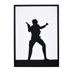 Star Wars Han Solo silhouette framed print