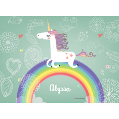 Unicorns personalised placemat