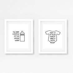 Funny baby print (set of 2)