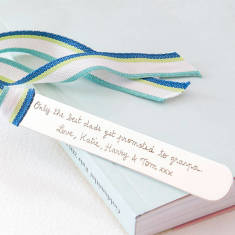Personalised sterling silver bookmark