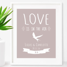 Personalised love is in the air print