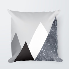 Geometric Mountain Illustrated Throw Pillow