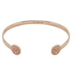 lace doily open cuff in rose gold plate