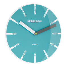 London Clock Company Ignite Wall Clock In Teal