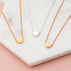 Hold my Heart necklace in rose gold or silver