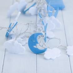 Children's Moon & Clouds Fairy String Lights