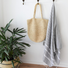 Bondi Turkish Towel in Classic Grey