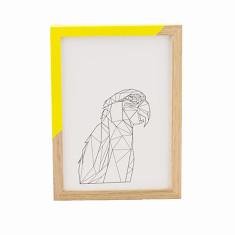 Geometric macaw framed print