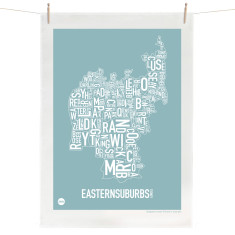 Eastern suburbs tea towel