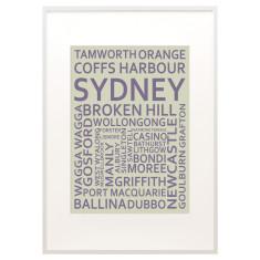 Sydney text print