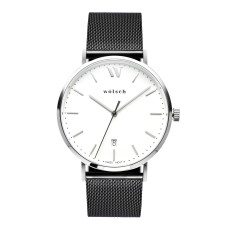 Versa 40 Watch in Steel with Black Mesh