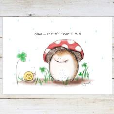 So mushroom art print