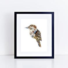 Australian kookaburra stamp bird fine art giclee print