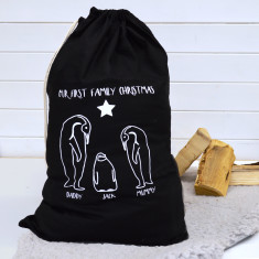 First Family Christmas Penguin Sack