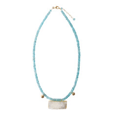 Apatite & Rough Quartz Necklace