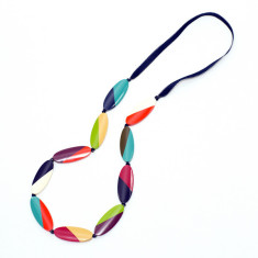 Market bazaar abstract stripe necklace