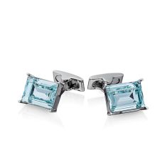 Emerald Cut Swarovski Cufflinks - Large