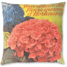 Hydrangea Blooms linen cushion cover