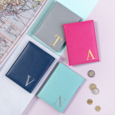 Monogrammed Personalised Passport Cover