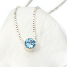 Blue Topaz Necklace December Birthstone