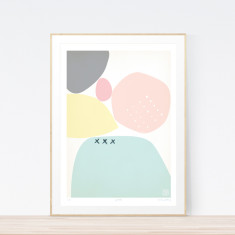 Pebble art print