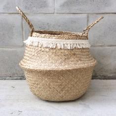 Seagrass fringe basket