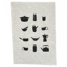 Kitchen objects tea towel
