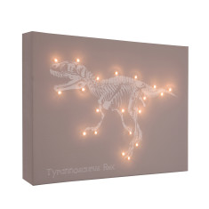 T-Rex illuminated canvas