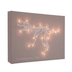 T-Rex illuminated canvas