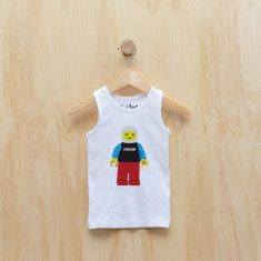 Personalised blockman singlet