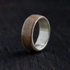Silver bentwood ring