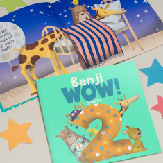 Personalised 'Wow You're Two' 2nd Birthday Children's Book