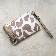 Mini Masai Mara Clutch in Big Leopard