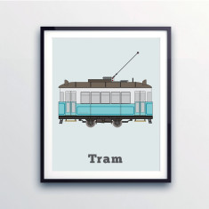 Kids' city tram print