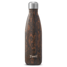 S'well insulated stainless steel bottle in Wood Wenge Wood (multiple sizes)