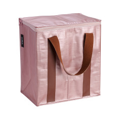 Insulated Cooler bag in Rose Gold print