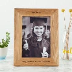 Personalised Oak Graduation Photo Frame