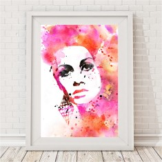 Watercolour Twiggy Print