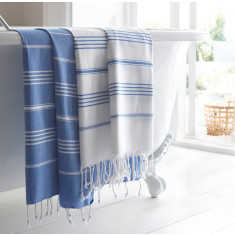 Devon Stripe Turkish Hammam Towel