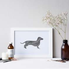 Dachshund drawing print