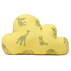 Large origami on sunshine cloud cushion