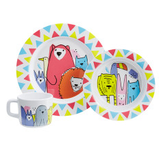 Menagerie Kids Melamine Dinner Set