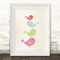 Bird stack art print