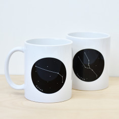 Constellation star sign mug
